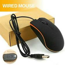 Optical LED Wired Gaming Mouse Mice With USB Cable Laptop Computer Accessories N