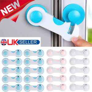 5/10x Baby Kids Safety Lock Protector Kitchen Cabinet Door Drawer Cupboard Catch
