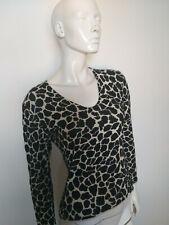 MARCCAIN women's top black&white long sleeve size N4