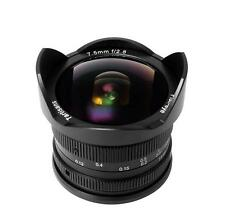 7artisans 7.5mm F2.8 Fisheye lens for Panasonic and Olympus M4/3 cameras (Black)