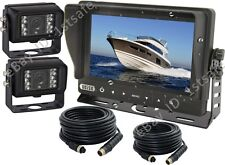 """7"""" WATERPROOF MONITOR+2 WATERPROOF CAMERA,CCTV SYSTEM  REAR VIEW FOR BOAT YACHT"""