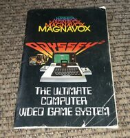 Magnavox Odyssey 2 1970's Vintage Video game system Cartridge Catalog book 46 pg