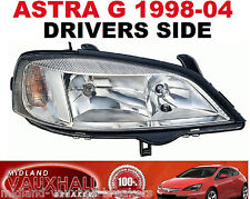 VAUXHALL ASTRA G MK4 HEADLIGHT CHROME DRIVERS OFF RIGHT SIDE VAN HATCHBACK CLUB