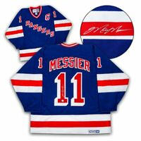 Mark Messier New York Rangers Autographed Retro CCM Hockey Jersey with COA