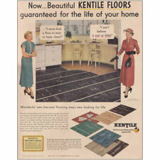 1949 Kentile Floors: Life of Your Home Vintage Print Ad
