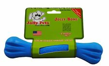 Jolly Pets Jolly Bone Durable Interactive Float Chew Dog Toy Blue USA 8 inch
