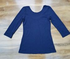 Boden Ladies Fabulous cotton mix Top in navy WO125 UK Size 8 Excellent condition
