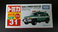 TOMICA #31 TOYOTA FJ CRUISER POLICE CAR 1/66 SCALE NEW IN BOX