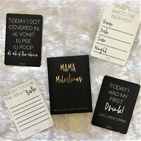 Mama Milestones. Funny Milestone Cards for the Modern Mama. Fun Baby Shower Gift