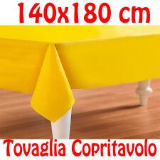 Mesa cubierta Algodón Paño Amarillo Rectangular Color Liso 140 x 180 cm