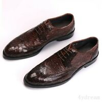 Details about  /Mens Crocodile pattern Work Pointy Toe Party Real Leather Business Leisure Shoes