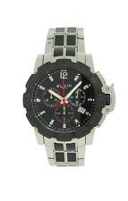 Elgin 1863 52102.2 Men's Round Black Chronograph Date Stainless Steel Watch