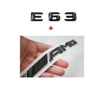 E63 AMG Emblem Glänzend schwarz Zeichen aufkleber Schriftzug Mercedes Benz