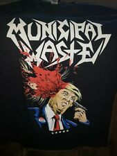MUNICIPAL WASTE - Wall of death Trump shirt tee SIZE L party thrash metal toxic
