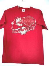 Harley Davidson Mens Christmas Santa Huntington Beach Harley T-Shirt Size Large