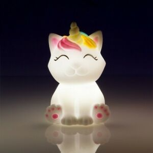 Xmas Baby Kids Gift Present Dreamers Baby Caticorn Mini LED Light Unicorn Night