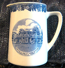 Beautiful Weatherby Hanley Milk Jug Scene Monticello Thomas Jefferson