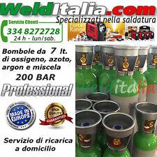 BOMBOLA RICARICABILE 7 LT. 200 BAR ARGON PER SALDATRICE A FILO E TIG EUROPEA