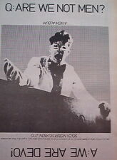 DEVO Are We Not Mern 1978 UK Press ADVERT 10x8 inches