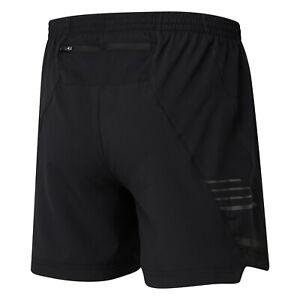 "Ronhill Men's Stride Twin 5"" Running Shorts Black x-Large(b13)"