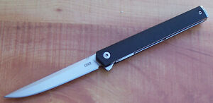 "CRKT 7097 CEO GENTLEMAN'S FLIPPER KNIFE IKBS PIVOT GRN HANDLE 3.35"" AUS-8 BLADE"