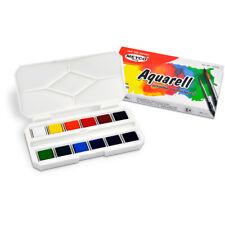 Meyco Aquarellfarben Aquarellfarbkasten mit 12 Farben