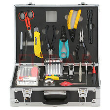 Universal Fiber Optic Fusion Splicing Tool Kit Slitter Stripper include19 Tools