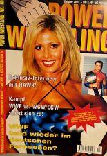 Power Wrestling Oktober 2001 WWE WWF WCW + 4 Poster (RVD, Raven, Ohaire)