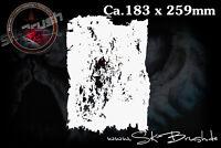 Grunge Effekt Airbrush Struktur Schablone - Structure Effect FX Stencil