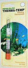 PENN PLAX THERMA-TEMP FLOATING STANDING UPRIGHT AQUARIUM THERMOMETER NEW