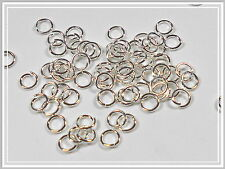 100 Binderinge Spaltringe 5mm silber Schmuckzubehör