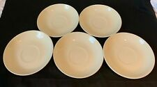 Wedgwood Queens Ware Plain All Ivory Set of Saucers Dessert Plates Bowls