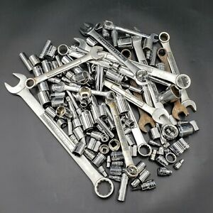 Lot of 130 Craftsman Tools Assorted Wrenches Extensions Sockets Aircraft Tools