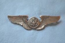 WWII Era Sterling Pin-back Crewman Wings