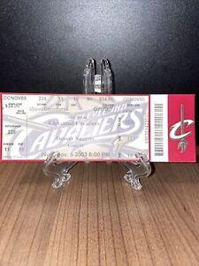 Cleveland Cavaliers Ticket Unused Lebron James Home Opener Vintage Nov 5 2003