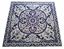 taille Image de tuile carrelage peint à la main bleu blanc Flux mosaique 90x90