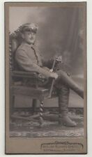 CDV Foto Soldat 107 IR Säbel Portepee schöne Pose 1910 / 1 Wk Borna ! (F2179