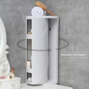 Corner Shelf Rack Storage Holder Rotating 360 Degree Kitchen Bathroom Organizer