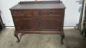 Chippendale Sever Mahogany Dining Room Set Antique