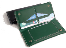 men women wallet purse cow Leather Bifold mobile iphone Holder bag green z523