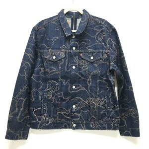 UNUSED A BATHING APE x Levi's COLOR CAMO TRUCKER JACKET Tracker Jacket Blue