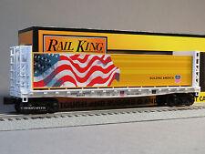 MTH RAIL KING UP BULKHEAD FLATCAR LUMBER YARD LOAD o gauge train 30-76615 NEW