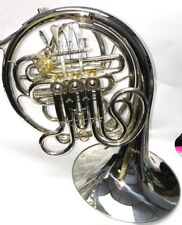 Silver plated Alexander styled double Bb/F French Horn