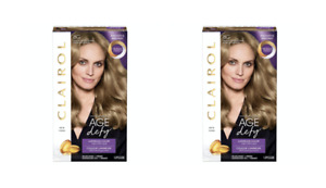 2 Pack Clairol Age Defy Permanent Hair Color 8G Medium Golden Blonde