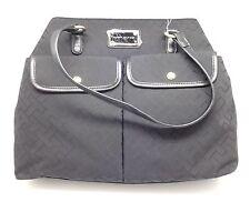 TOMMY HILFIGER Black with Gold Hardware Tote Bag Shoulder Bag Handbag Purse