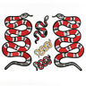 DIY Fabric Applique Embroidered Snake pattern Sew Iron On Badge Patches Clothing