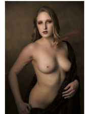 """Art Nude Woman Photo - Baryta Photo Paper 8""""x10"""" (27) With Border - Signed"""