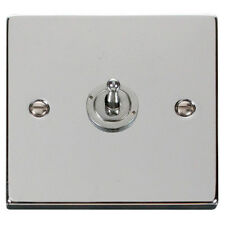 Click Deco 1 gang Single Toggle Light Switch Victorian Polished Chrome - VPCH421