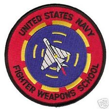 NAVY FIGHTER WEAPONS SCHOOL UNIFORM OLD EMBROIDERED PATCH