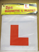 2 x L PLATE MAGNETIC EXTERIOR CAR BIKE PAIR LEARNER PLATES EASY TO FIT REAR OF